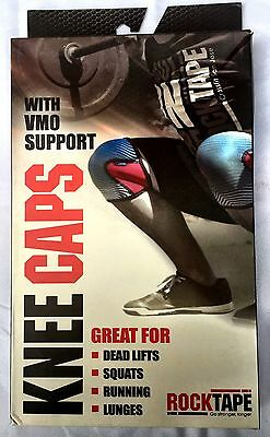NEW-RockTape Knee Caps Pads Weight Power Lifting Running Support Small 5mm Red