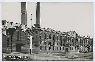 C1915 Rp Pu Postcard Adelaide Electric Supply Company Building Now Tandanya J4