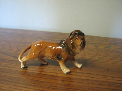 VINTAGE LION Figurine ceramic porcelain BIG CAT Japan