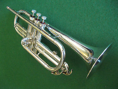 Conn Director Cornet in Silver Plate with Case and MP - Refurbished Play Ready