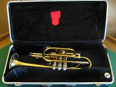 Bundy Cornet with Case and Benge 7C - Refurbished READY to PLAY!