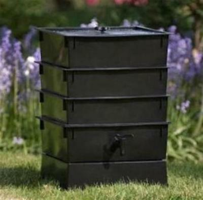 Natures Footprint Factory 3-Tray Recycled Plastic Indoor & Outdoor Usage Black