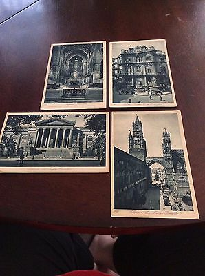 4 vintage postcards of Palermo Italy