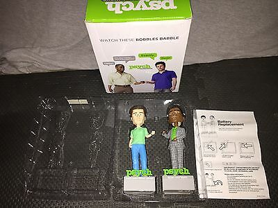 Shawn Gus Psych Talking Bobbleheads Complete Working RARE OOP
