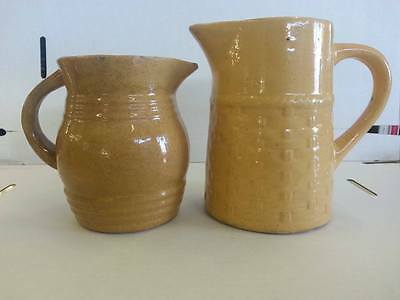 Medalta  Pottery Lot Of 2 Jugs Or Pitchers