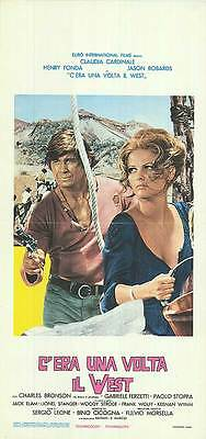 original italian locandina ONCE UPON A TIME IN THE WEST Sergio Leone C.Cardinale