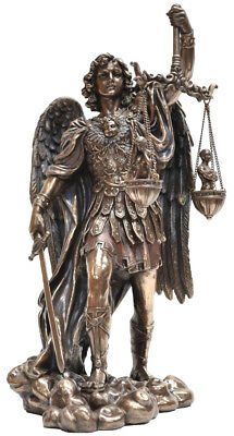 Veronese Bronze Figurine Statue Archangel Saint Michael Weighing Souls