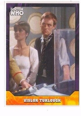 Vislor Turlough - 2017 Topps Doctor Who Signature Series Purple Parallel 10/10