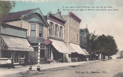 1910s Morrow Ohio OH Railroad Street #2