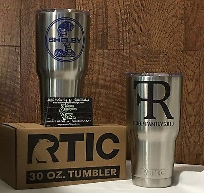 30oz Rtic Tumbler, Etched, Printed, Decals Personalized Gift - similar to yeti