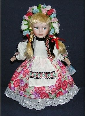 12inch-30cm porcelain doll - Russia girl-toy- Children gift- holiday collection.