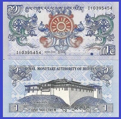 BHUTAN 🇧🇹 1 Ngultrum Banknote, 2006, P-27, NEW UNC World Currency