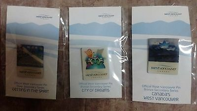 2010 Vancouver Olympics PINS x 3 - West Vancouver - NEW