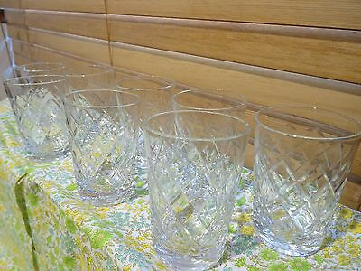 crystal glasses set of 8