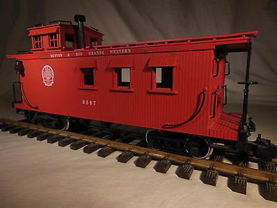 4275 Delton Denver & Rio Grande Western Caboose metal wheels lights G scale