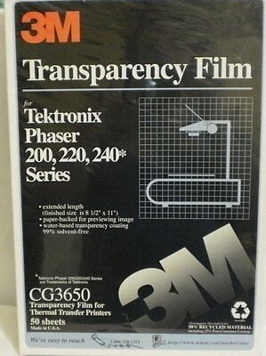 3M CG3650 Transparency Film for Thermal Transfer Printers - Lot of 5 boxes