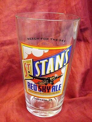 St. Stan's Brewery Pint Glass Red Sky Ale Beer Pub Stout Lager Craft Brewery.
