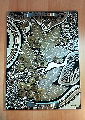Design*Tablett aus Glas*Glasmalerei*Handarbeit*2