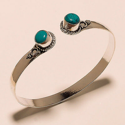 Attractive 925 Sterling Silver Plated Gemstone Bracelet/cuff