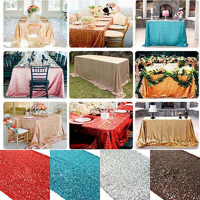 5 Colors Glitter Sequin Table Runner Sparkly Wedding Party Decoration 30x275cm