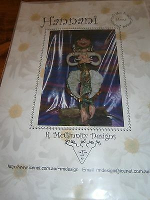 2  R McGinnity's  Hannani and Angelita cloth doll patterns