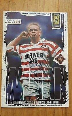 wigan v london broncos 1996 magazine
