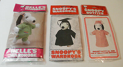 Vintage Snoopy Outfits Wardrobe Graduation Nightgown Belle's Wardrobe Lot New