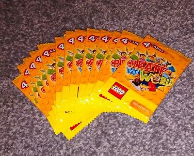 LEGO CREATE THE WORLD TRADING CARDS 15 PACKS X4 CARDS SAINSBURYS Sealed 60 Cards