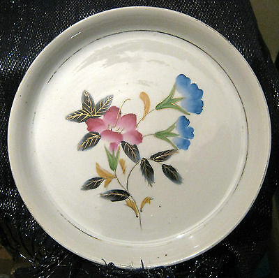 Lovely medium sized plant pot saucer with floral design approx 8ins diameter
