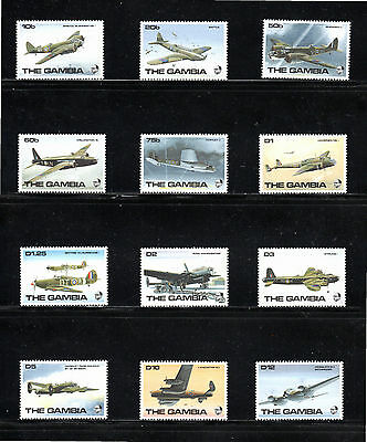 Gambia 1990 R.A.F. Aircraft of Second World War SG 999/1010 MUH