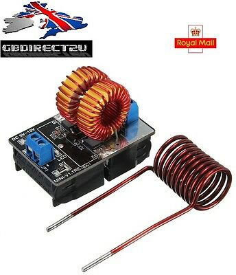 NEW 2017 UK 5V - 12V Induction Heating Power Supply Module With Coil