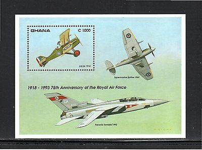 Ghana 1993 75th Anniversary Royal Air Force miniature sheet SG 1834b MUH