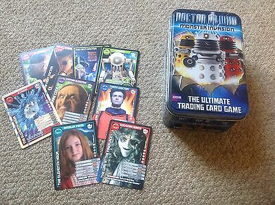 Dr Who monster invasion card tin plus 9 cards