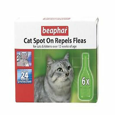 Beaphar Flea Repel Drops For Cats Spot On 6 Treatment Pack 24 Weeks Protection