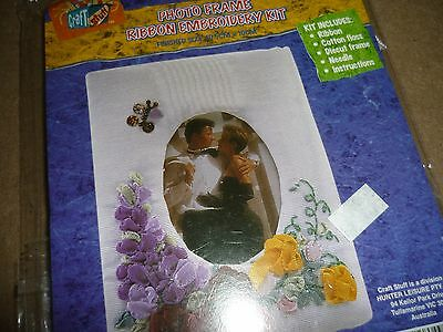 Craft N Stuff - Picture Frame -  Ribbon Embroidered Kit - New