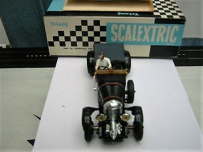 Vintage Scalextric Bentley 4.5L 1960s Black C64 , superb condition with org box