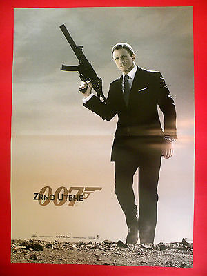 Quantum Of Solace 2008 James Bond 007   Daniel Craig   Rare Exyu Movie Poster