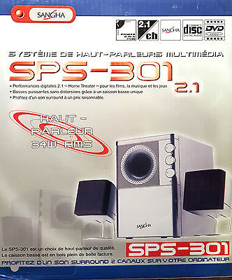 """@@@  Sangha """"sps-301"""" - Systeme Surround 2.1 - 34W Rms  @@@"""