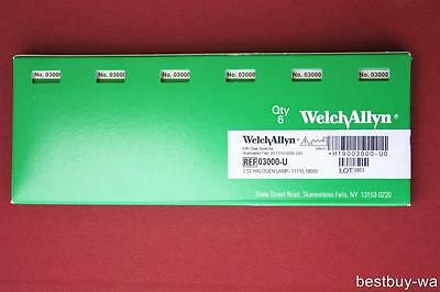 NEW WELCH ALLYN GENUINE 03000-U REPLACEMENT BULB LAMP for 11710; Pack of 6