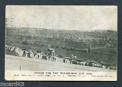 Australia,vic,finish For The Melbourne Cup 1905,winner Blue Spec,bw,pu'05