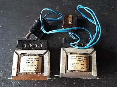 Pair Of Vintage Rank Wharfedale Auto Transformers W.M.T 1