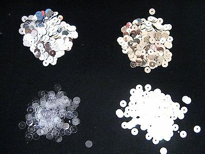 1000 pcs  Round Spankle Sequins Paillettes 5mm,  white AB, Silver, Gold, Clear