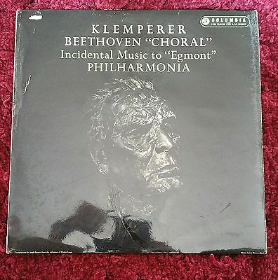 KLEMPERER / Beethoven Symphony 9, Rare Columbia Blue/Gold First Label, 33CX 1575