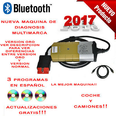 Maquina Diagnosis Bluetooth Multimarca 2017 Oro + 3 Software  / Profesional