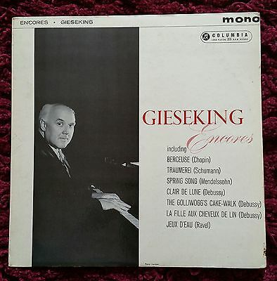 Walter Gieseking / Encores, RARE Blue / Gold FIRST LABEL, Columbia 33CX 1761