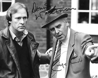 George Cole & Dennis Waterman Autograph Signed Glossy Photo Preprint Minder