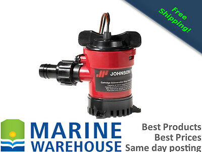 Johnson 500Gph Bilge Pump 12 Volt Complete Boat Marine Cartridge Style
