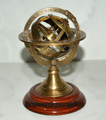 Brass Engraved Sphere Armilary Tabletop Sphere Globe