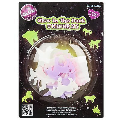Unicorn Glow In The Dark Stickers Decal Wall Art Room Decor 14 Pc Unicorns