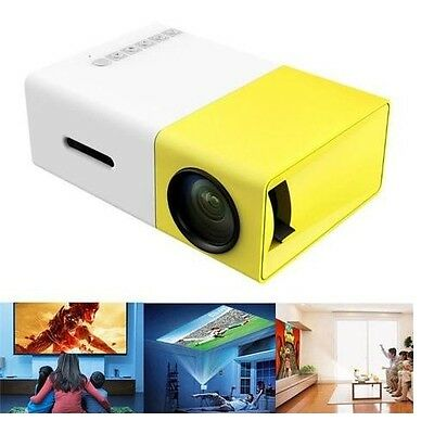 ProHD LCD Mini Support Portable Projector Home Theater Cinema Media Player 400lm
